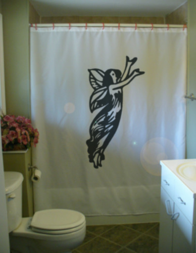 Printed Shower Curtain fairy wing angel hope love messenger god religious