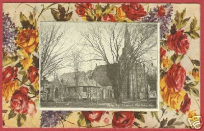 Marshall MI Postcard Trinity Church 1913 Michigan BJs