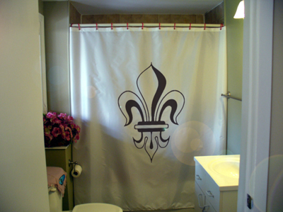 Printed Shower Curtain fleur de lis lily France Quebec French