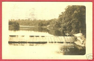 Lyons MI Postcard Grand River 1910 RPPC BJs