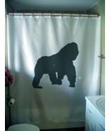 Shower Curtain gorilla in the mist primate ape ... - $72.57