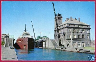 SOO MI Freighter Watson Great Lake Ship Postcard BJs