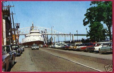 Primary image for FREIGHTER SPARROWS POINT Soo Michigan W Portage Cars