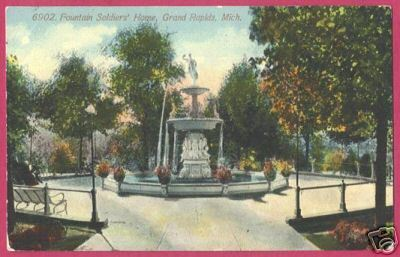 Primary image for GRAND RAPIDS MICHIGAN Fountain Soldiers Home MI