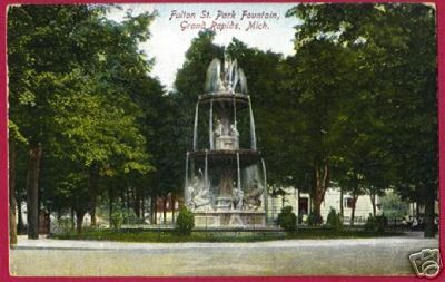 GRAND RAPIDS MICHIGAN Fulton St Park 1908 MI