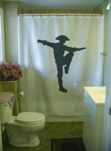 Shower Curtain kung fu martial art kick Chinese China
