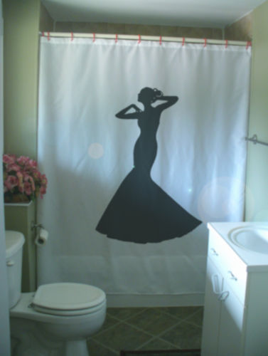 Shower Curtain lady elegant gown bride dress girl class