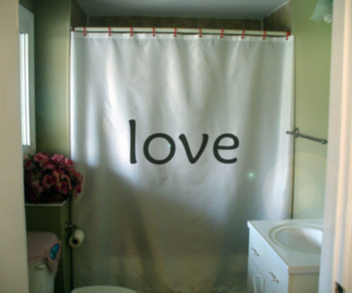 Shower Curtain love inspire positive thinking motivate