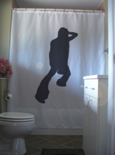 Shower Curtain male disco dancer boogie night dance guy