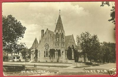 York Nebraska Postcard RPPC M E Church 1919 NE BJs