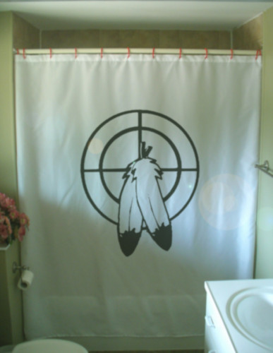 Printed Shower Curtain medicine wheel native art New Age Hopi magic power