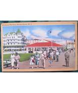 Tichnor, White Border, Linen Postcard, Pathway Pavilion, Oce - $6.00