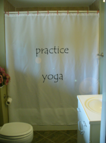Shower Curtain practice yoga inspire motivate practise