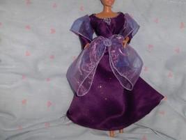 Purple Glitter Satin Gown with Iridescent Purple Chiffon trimmed in Silv... - $10.95