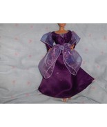 Purple Glitter Satin Gown with Iridescent Purple Chiffon trimmed in Silv... - $10.95