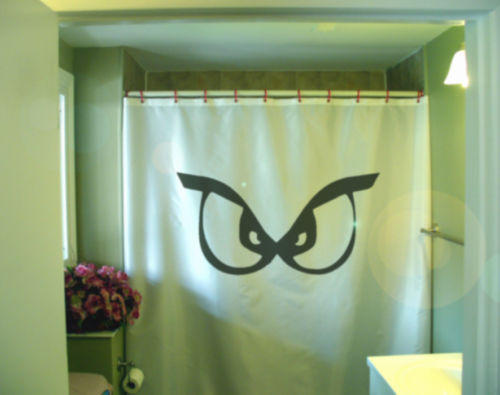 Shower Curtain scary monster eyes look at see you naked