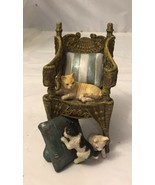 """Vintage Cats Chair Figurine 5"""" Tall - $9.90"""