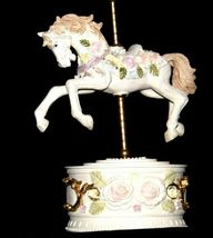 Horse Carousel Music Box (1980's) Works AA18-1631 Vintage image 8