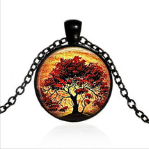 LIVING TREE CABOCHON NECKLACE  (13040)   >> COMBINED SHIPPING  - $3.22