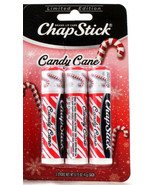 1 Packs 3 Total Limited Edition Candy Cane Chap Stick Brand Lip Care .15... - $10.99