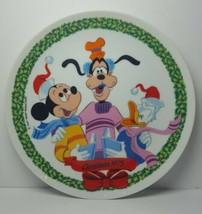 "Schmid Walt Disney's 1975 Christmas 8⅝"" Plate Mickey, Goofy, Donald Duck - $18.66"