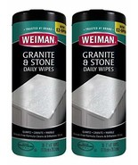 Weiman Granite Wipes - Clean, Brighten, and Protects Solid Sealed Stone ... - $13.18
