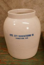Antique Steel City Manufacturing Company Water Crock - $41.73