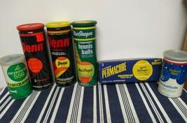 Vintage Tennis Balls & Racquet Balls Penn Seamco Rollout Bleu Permacore ... - $88.11
