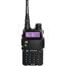 Baofeng uv-5r cb black radio transciver 128ch 5w handheld hunting walkie... - £120.39 GBP