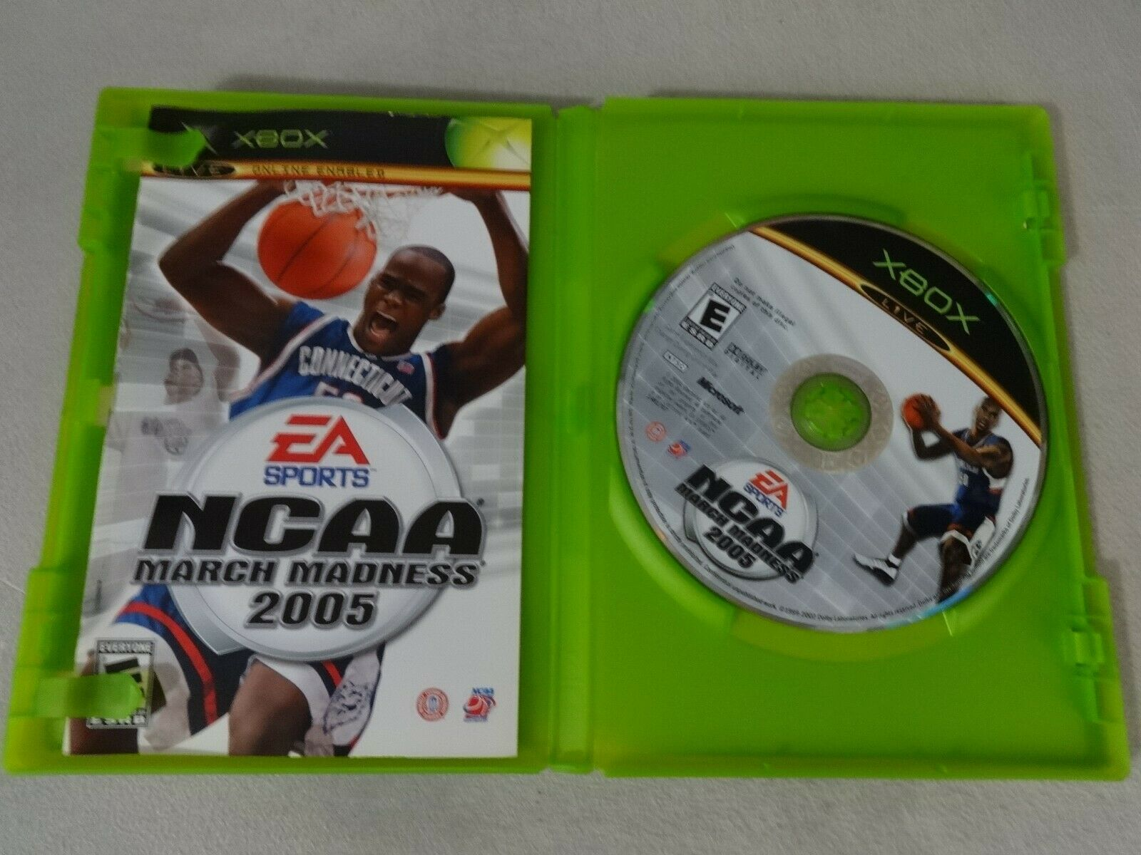 NCAA March Madness 2005 Original Microsoft Xbox Game Complete Free Ship