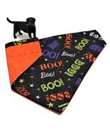 Halloween Dog Bandanas, Ghosts BOO Fall Autumn pet kerchief, S M or L - $6.00+