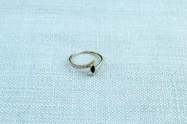 Sapphire Ring 18ct White Gold Small Gemstone Bezel Band K1/2 - $143.80