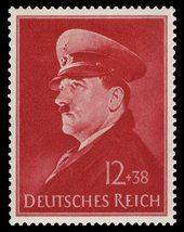 1941 Adolf Hitler Birthday Germany Postage Stamp Catalog Number B190 MNH
