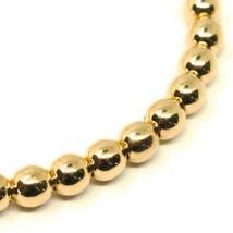 18K YELLOW GOLD BRACELET, SEMIRIGID, ELASTIC, BIG 5 MM SMOOTH BALLS SPHERES image 1