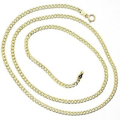 18K YELLOW GOLD GOURMETTE CUBAN CURB CHAIN 2 MM, 17.7 inches, NECKLACE