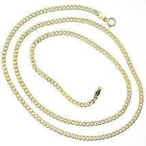 18K YELLOW GOLD GOURMETTE CUBAN CURB CHAIN 2 MM, 17.7 inches, NECKLACE image 1