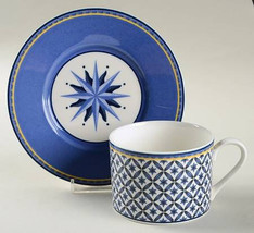 "Victoria & Beale Casual Porcelain Williamburg Flat Cup Saucer Set 2 1/2"" - $24.99"