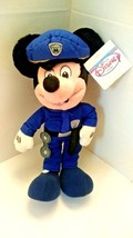 "Disney Store Mickey Mouse 12"" Policeman Plush - $15.99"