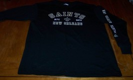 NEW ORLEANS SAINTS NFL FOOTBALL Long Sleeve T-Shirt LARGE NEW - $19.80