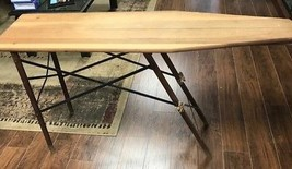 Vintage Queen wooden ironing board wood metal frame folding antique farm... - $142.49