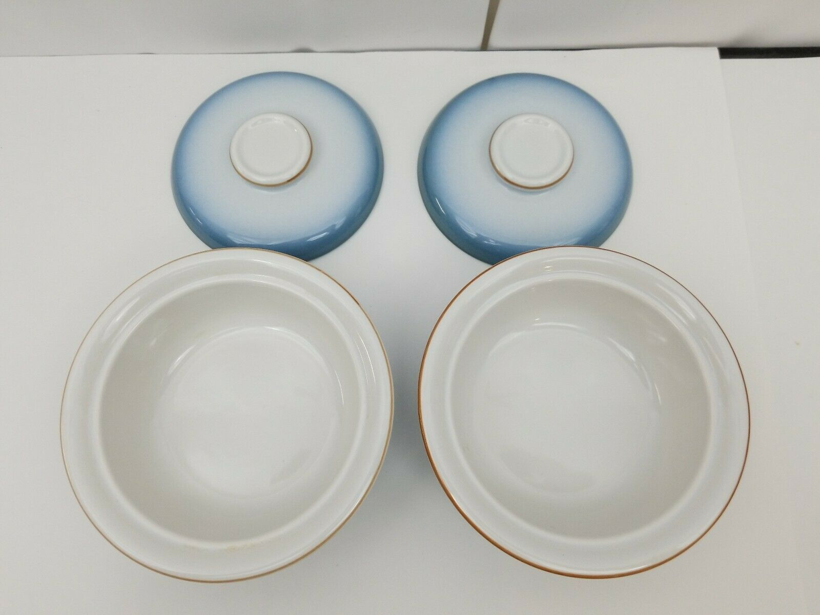 Nikko Gradiance Cereal Soup Bowl Lid Set of 2 Azure Leafette Dish Microwave Safe