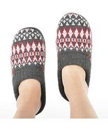 Zigzagger Women's Memory Foam Indoor-Outdoor House Sweater Knit Slippers... - $36.55 CAD
