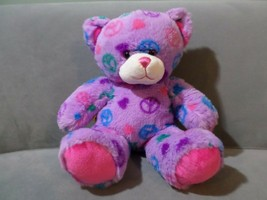 Build A Bear Peace and Heart Love Purple Easter Plush Doll - $9.74