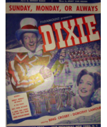 1943 Sunday Monday or Always Bing Crosby Cover Dixie Antique Vintage She... - $9.95