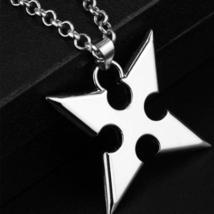 Silver Kingdom Hearts Sora Roxas's Cross Pendant Necklace for Gamer Geek... - $62.00