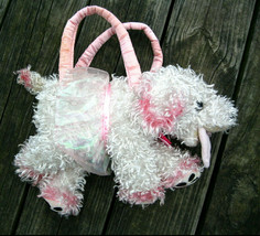 Fancy Nancy Frenchy French Poodle Dog Stuffed Animal Plush Purse Toy Jakks Pink - $21.19