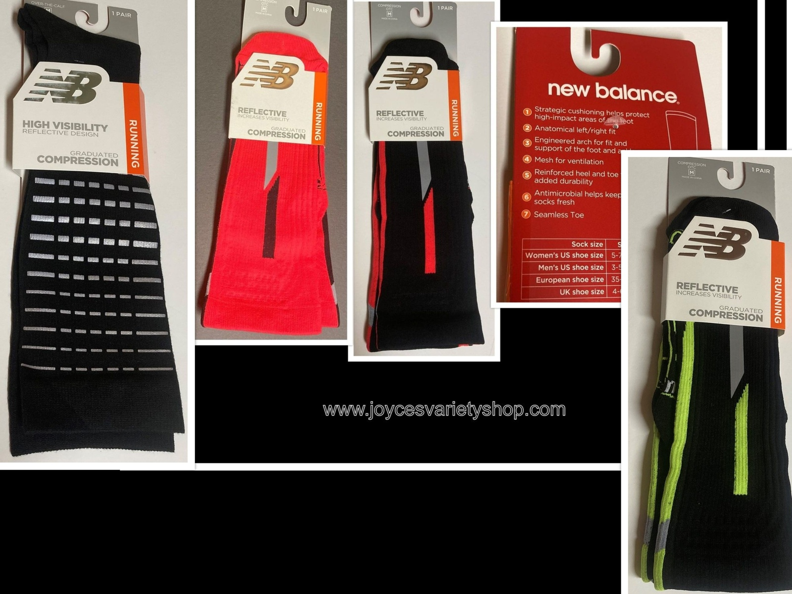 Primary image for New Balance Running Reflective Compression Socks Unisex Sz M Adult Color Choice