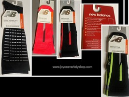 New Balance Running Reflective Compression Socks Unisex Sz M Adult Color Choice - $8.99