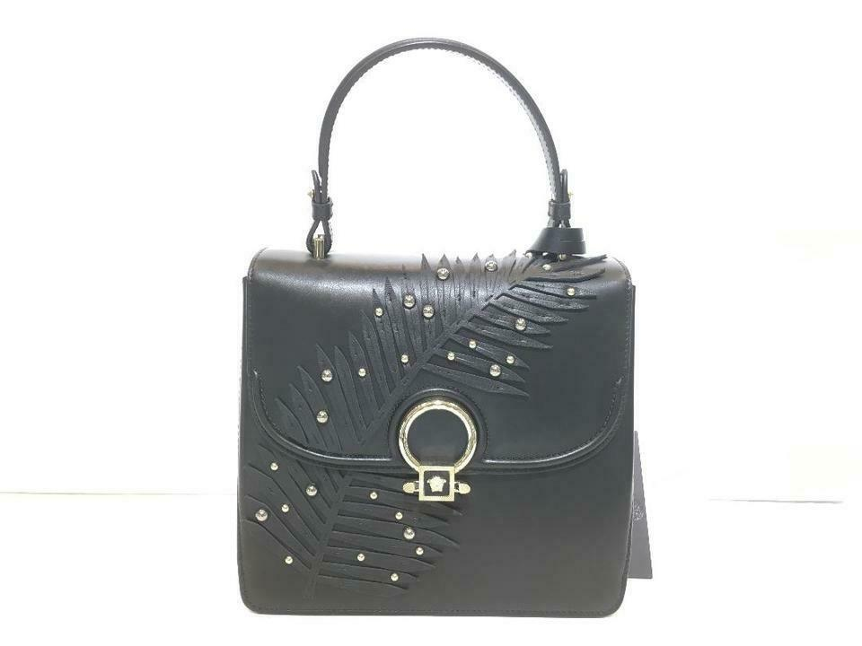 Primary image for Versace New Dfb5570 Limited Black Leather Satchel