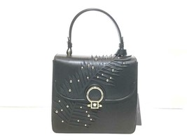 Versace New Dfb5570 Limited Black Leather Satchel  - $1,856.50